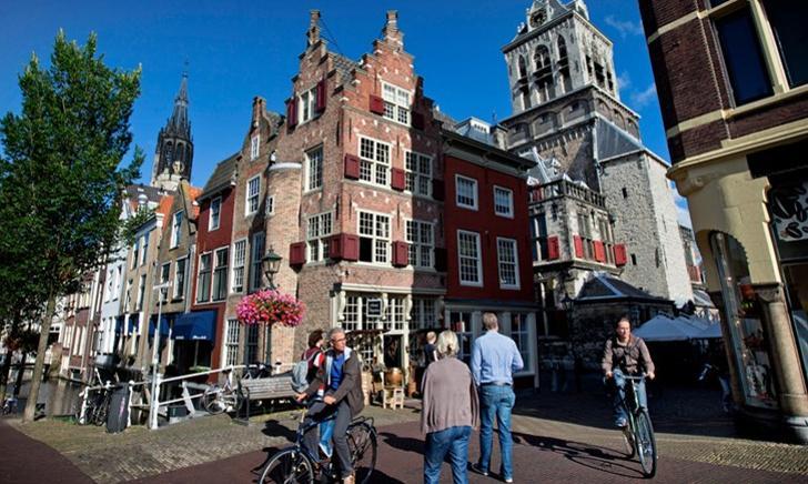 Binnenstad Delft foto