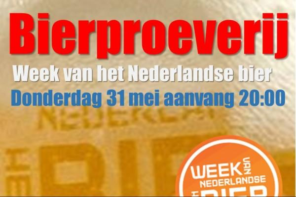 Bierproeverij 'De week van het Nederlandse bier