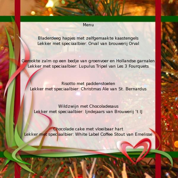 3 Gangen Kerstdiner.Kerstmenu Met Bijpassende Bieren Biernet Nl
