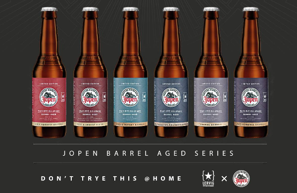 Barrel Aged Jopen bieren Don't tRYE this @ home