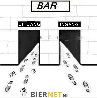 Komen en gaan in een bar