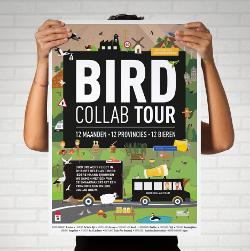 Bird collab tour poster