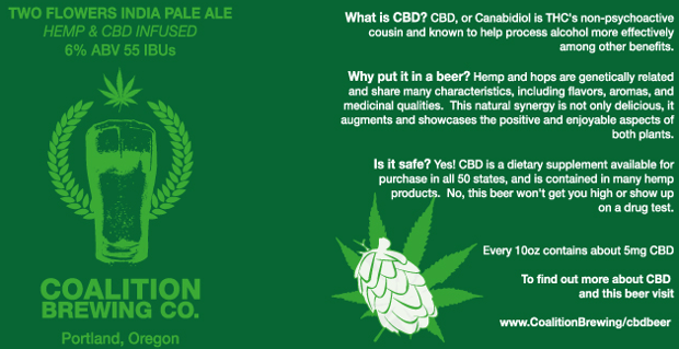 Cannabis bier van Coalition Brewing