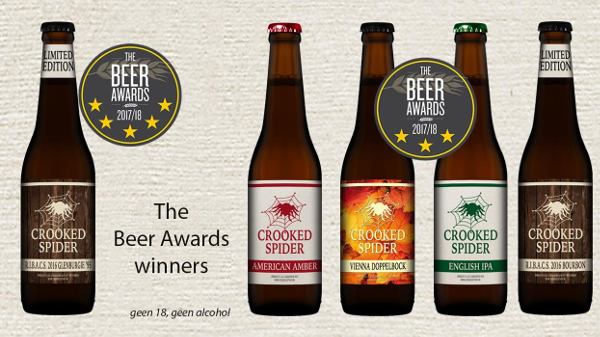 Crooked Spider Beer Award winners