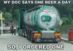 Volgens mijn dokter mag ik ��n biertje per dag drinken