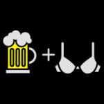 Bier tussen tieten