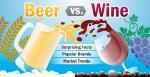 Bier vs wijn infographic