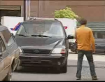 Dronken autos parkeren