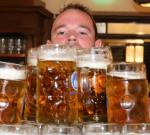 Wereldrecord literpullen bier dragen