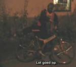 Dronken Rus op de fiets