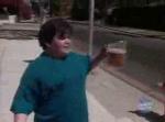 Dikke bierverkoper van 10 jaar