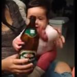 Baby heeft liever een biertje