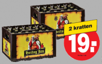2 kratten Hertog Jan bier aanbieding