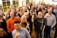 Record aantal bierambassadeurs proostten voor lustrum StiBON