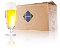hopper bierbox met bierglas