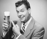 Vader met bier