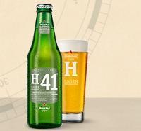 Heineken H41 flesje en glas