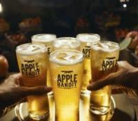 Apple Bandit appel cider in glazen met ijs