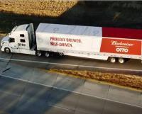 Lading bier bezorgd door zelfrijdende truck