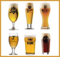 Set met 6 bierglazen voor verschillende biersoorten