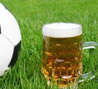 bier en voetbal