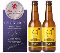 Brouwerij Groninger wint zilver in Lyon