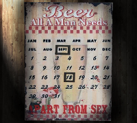 Metalen Bier Kalender