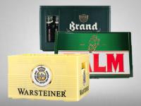 Korting op bier op kratten van Brand, Palm en Warsteiner