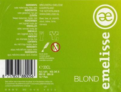 Emelisse blond etiket