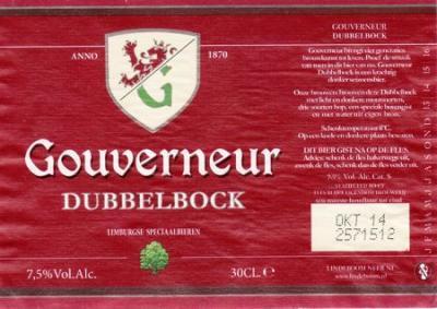 Gouverneur Dubbelbock - Bier met een bijzonder smaakkarakter