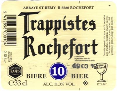 Rochefort Trappist 10 - Een donkerbruin zwaar bier