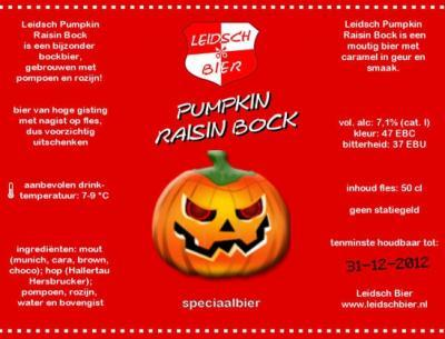 Pumpkin Raisin Bock