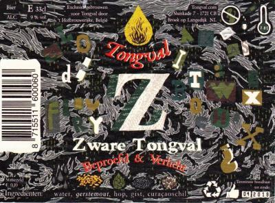 Zware Tongval etiket