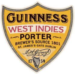 Guinness West Indies Porter etiket