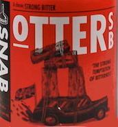 Etiket Otter Strong Bitter van brouwerij SNAB