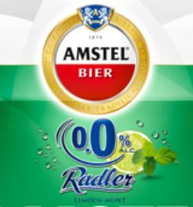 Amstel Radler Limoen Munt alcoholvrij etiket
