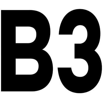 B3 triple logo