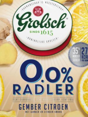 Grolsch Radler 0.0 gember citroen logo