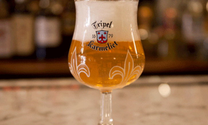 Tripel Karmeliet in glas