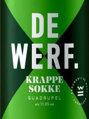 Krappe Sokke is een Quadrupel bier van Brouwerij de Werf