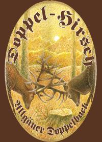 Doppel Hirsch dunkel logo