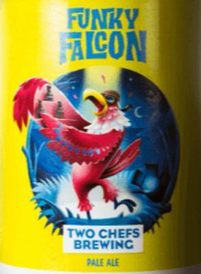 two chefs brewing funky falcon logo