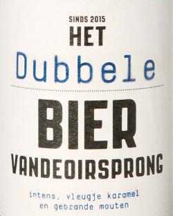Het Dubbele bier Vandeoirsprong logo