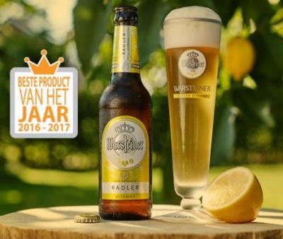 Warsteiner Radler is Product van het jaar 2016-2017 in de categorie Bier