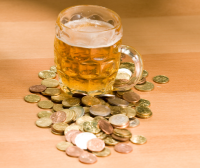 Geld en bier