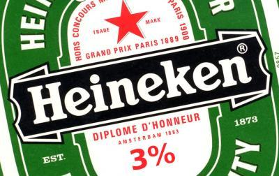 Heineken bier 3 procent alcohol