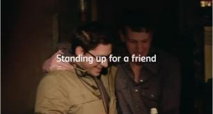 Carlsbergen standing up for a friend