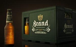 Nieuw krat Brand bier