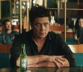 Benicio del Toro More Behind the star Heineken