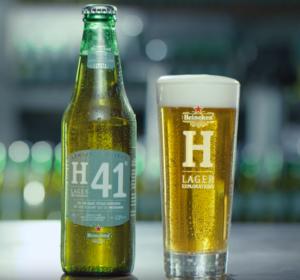 Heineken H41 glas en flesje